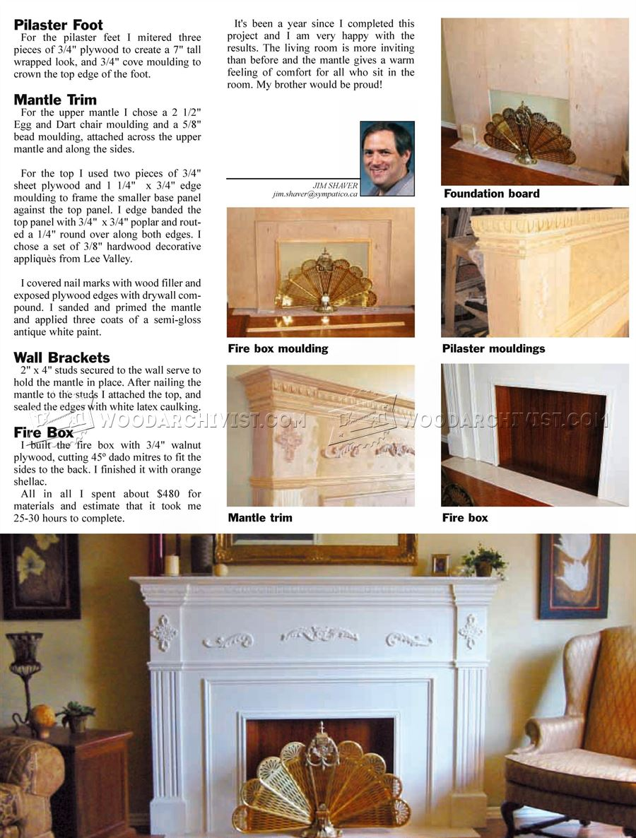 Faux Fireplace Mantle Plans