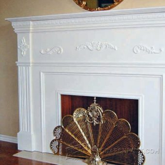 1044-Faux Fireplace Mantle