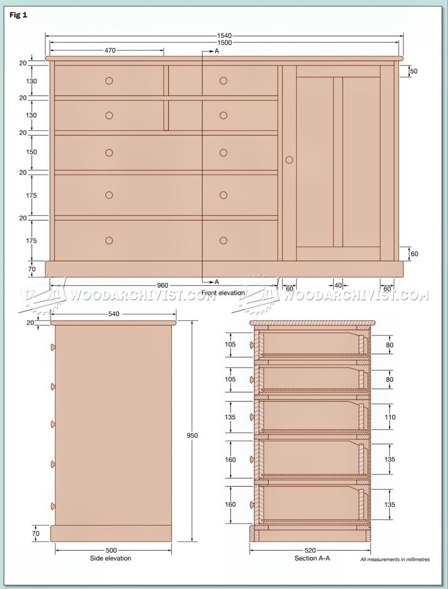 Dresser Plans Woodarchivist