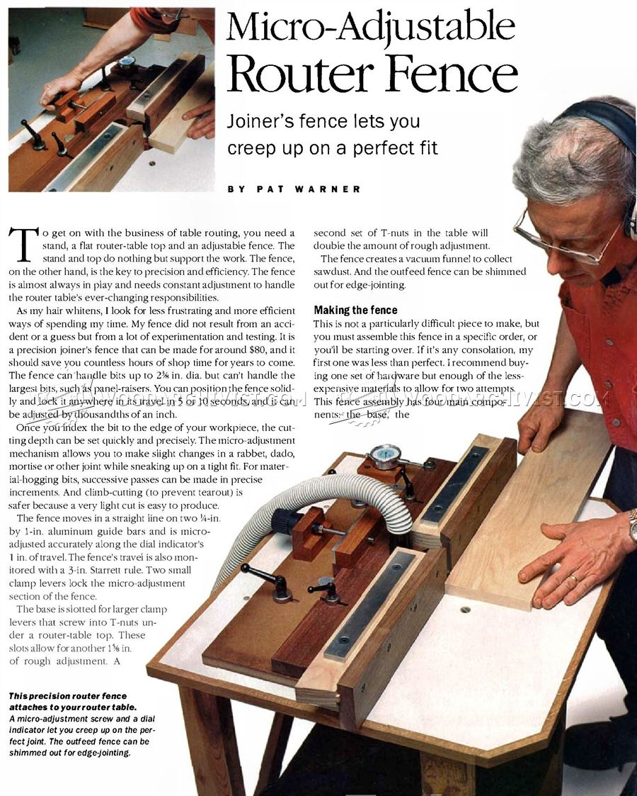 Micro-Adjustable Router Fence