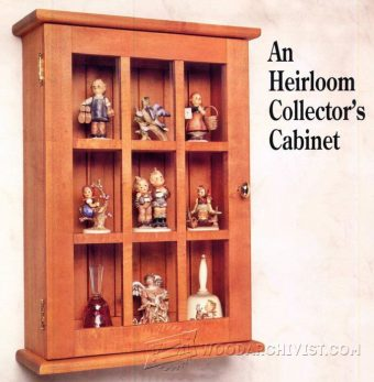 1050-Collectors Wall Display Cabinet Plans