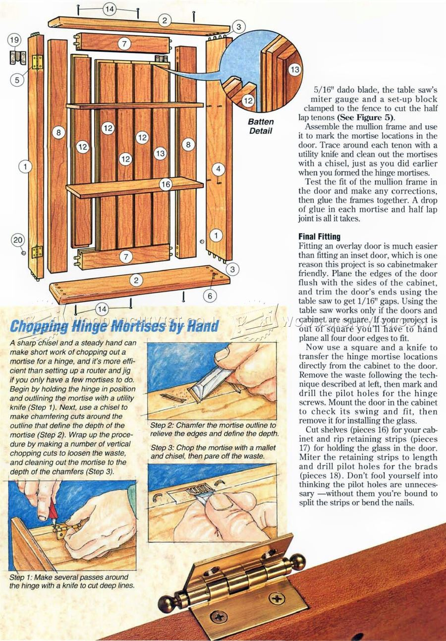Collectors Wall Display Cabinet Plans