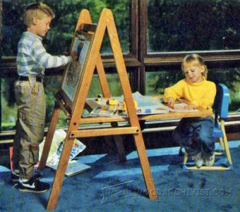 1052-Kids Easel Plans