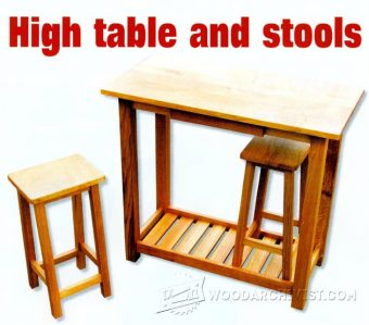 1055-High Table and Stools Plans