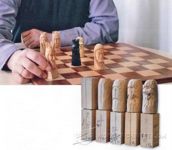 1058-Carving Chess Pieces - Wood Carving Techniques