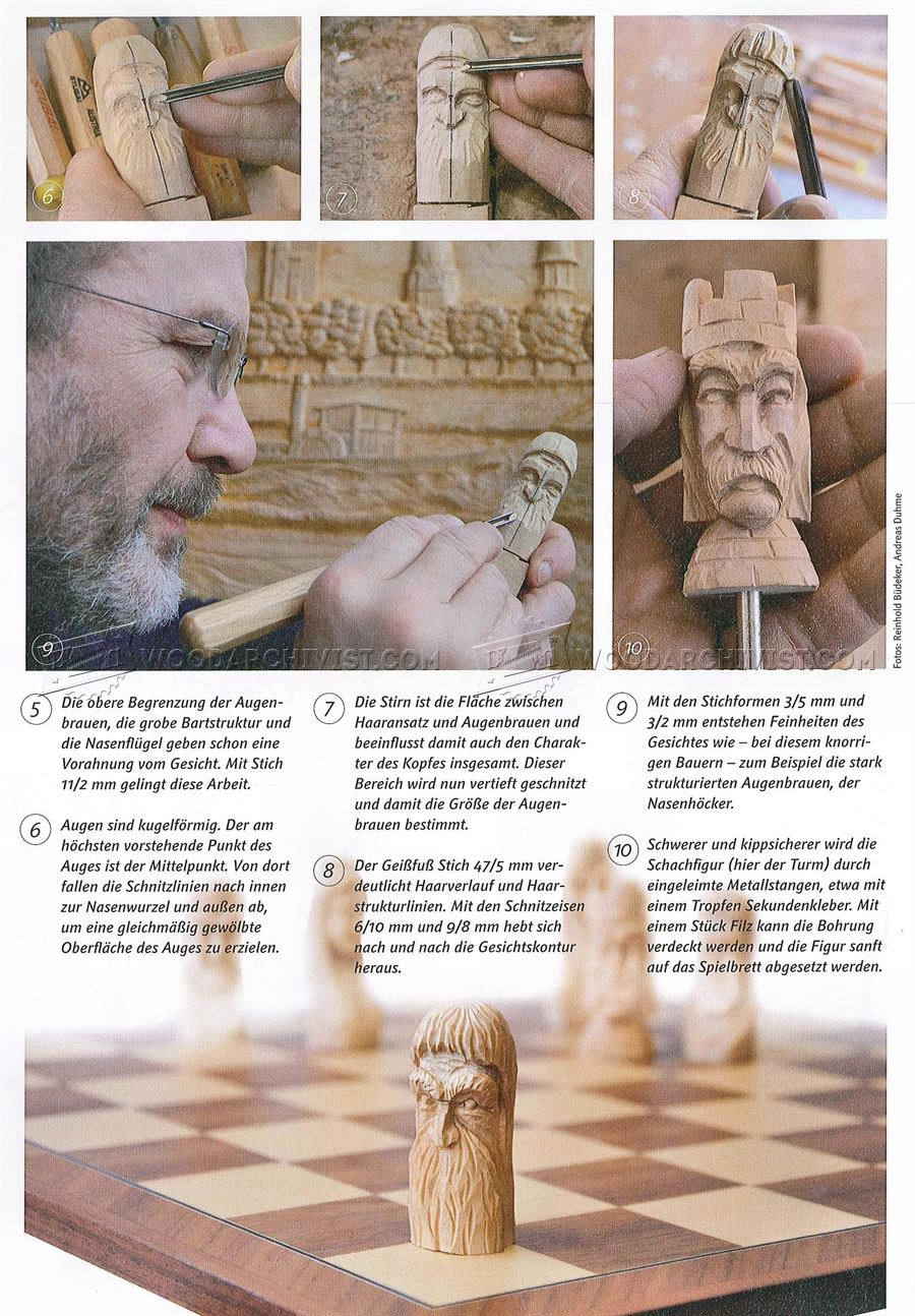 Carving Chess Pieces - Wood Carving Techniques