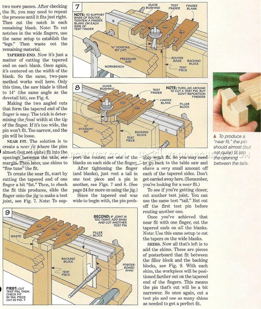 Dovetail Jig Plans Woodarchivist
