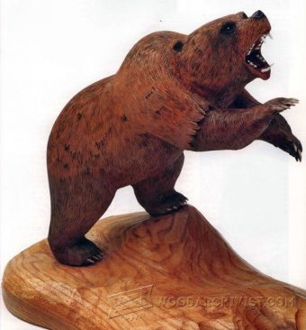 1072-Carving Bear - Wood Carving Patterns