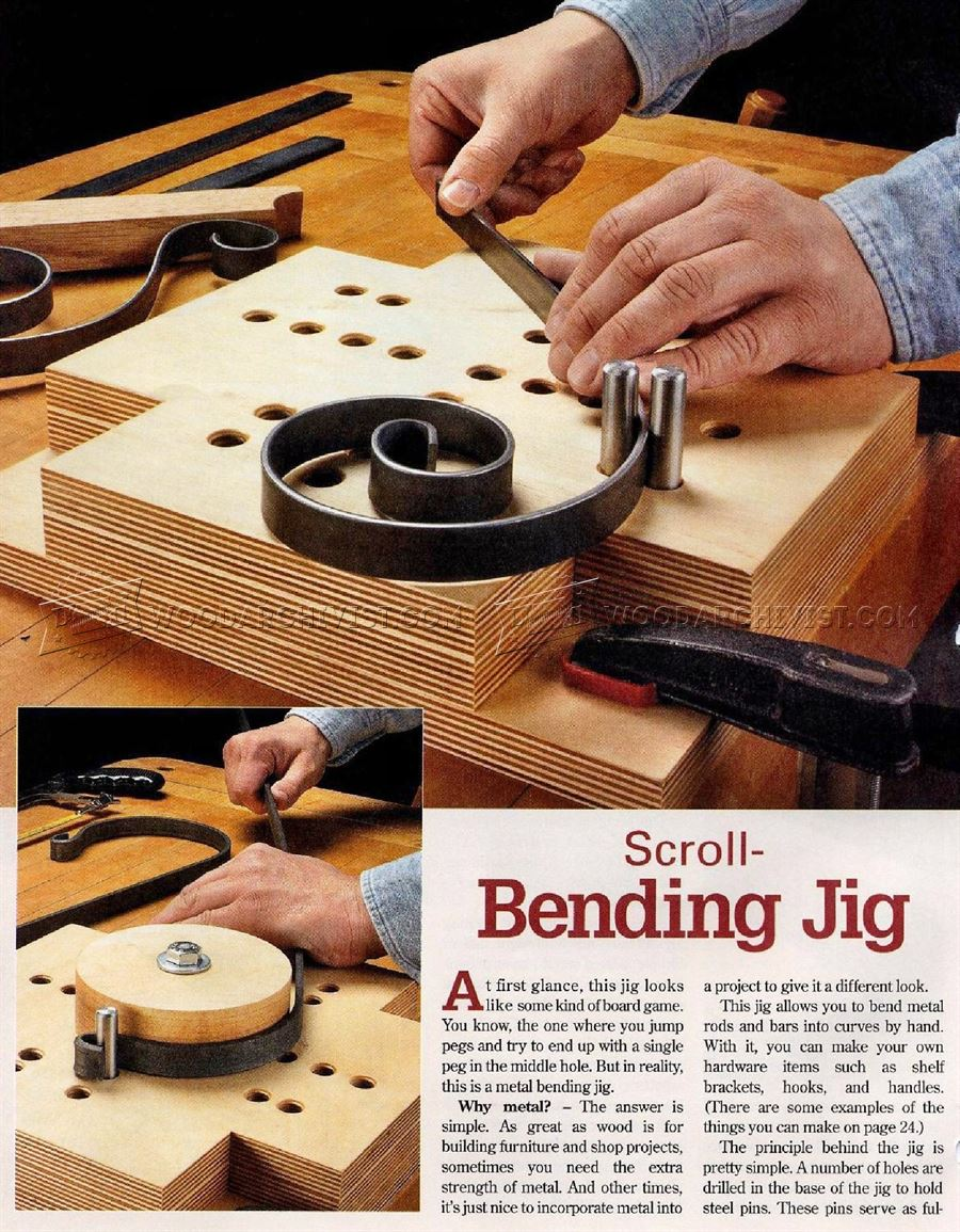 Scroll Bending Jig Woodarchivist