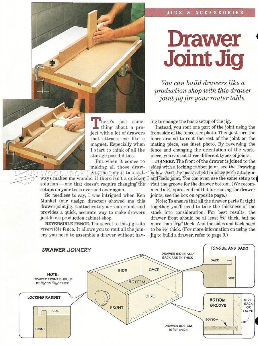 #1083 Drawer Joint Jig