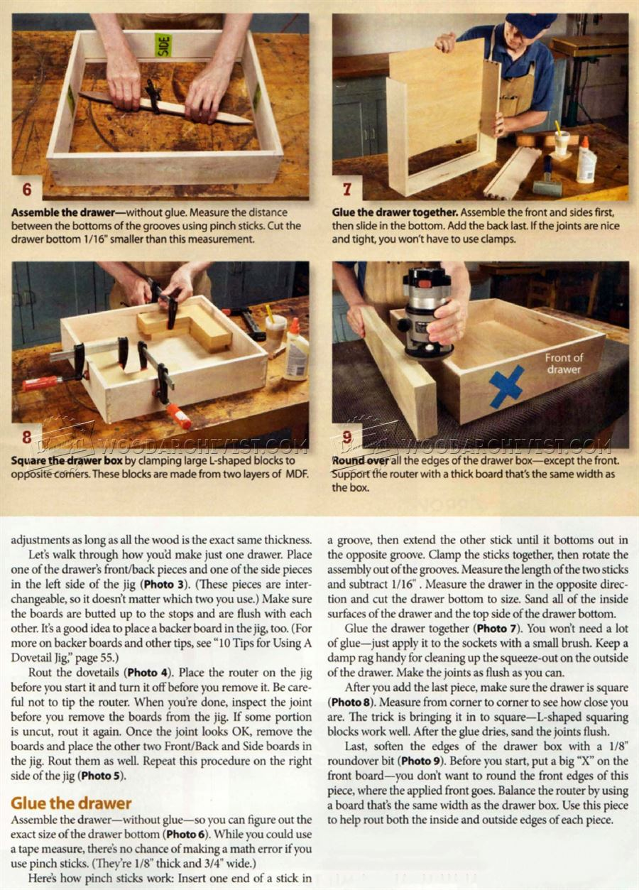 Build Cabinet Drawer Boxes Woodarchivist