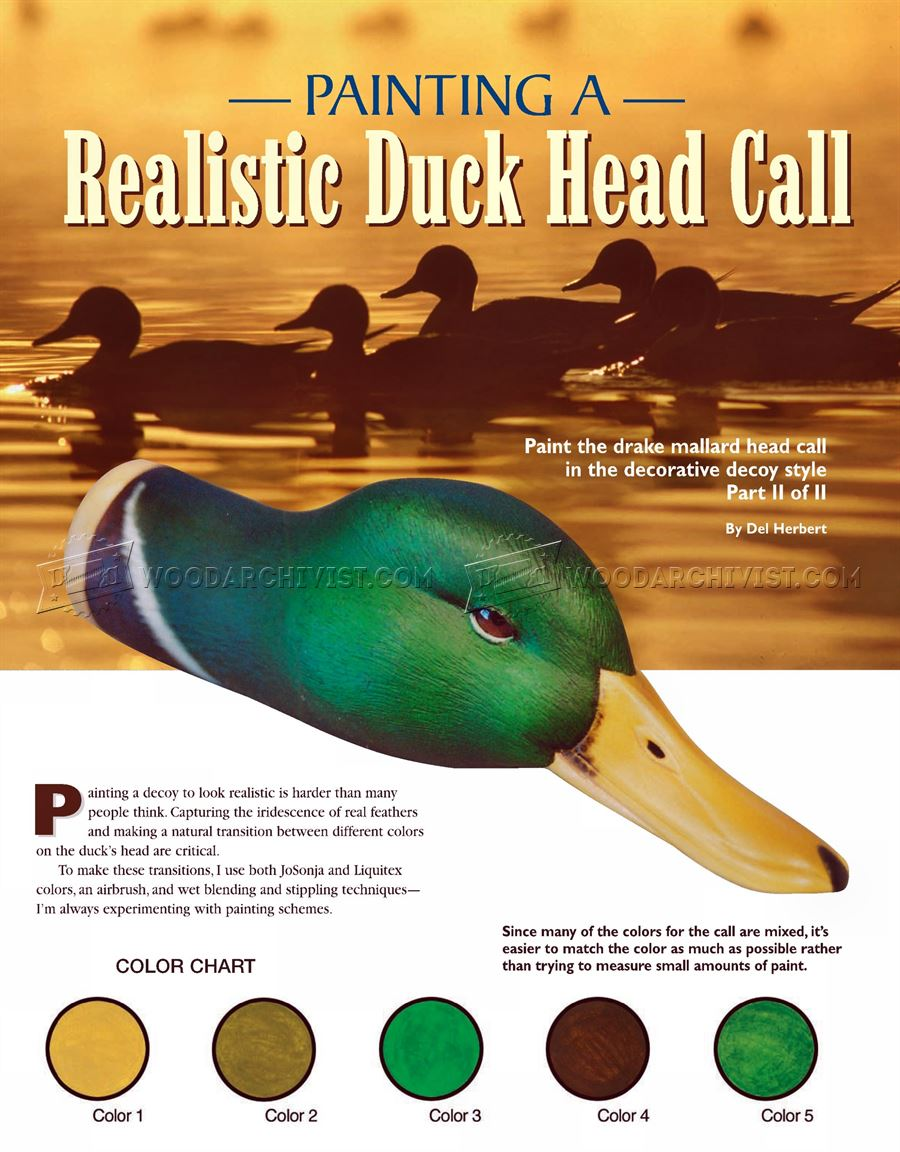 Realistiс Duck Call Carving - Wood Carving Patterns