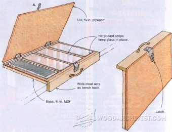 923-Sandpaper Sharpening Caddy