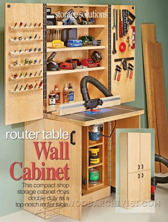 925-Wall Cabinet Router Table  Plans