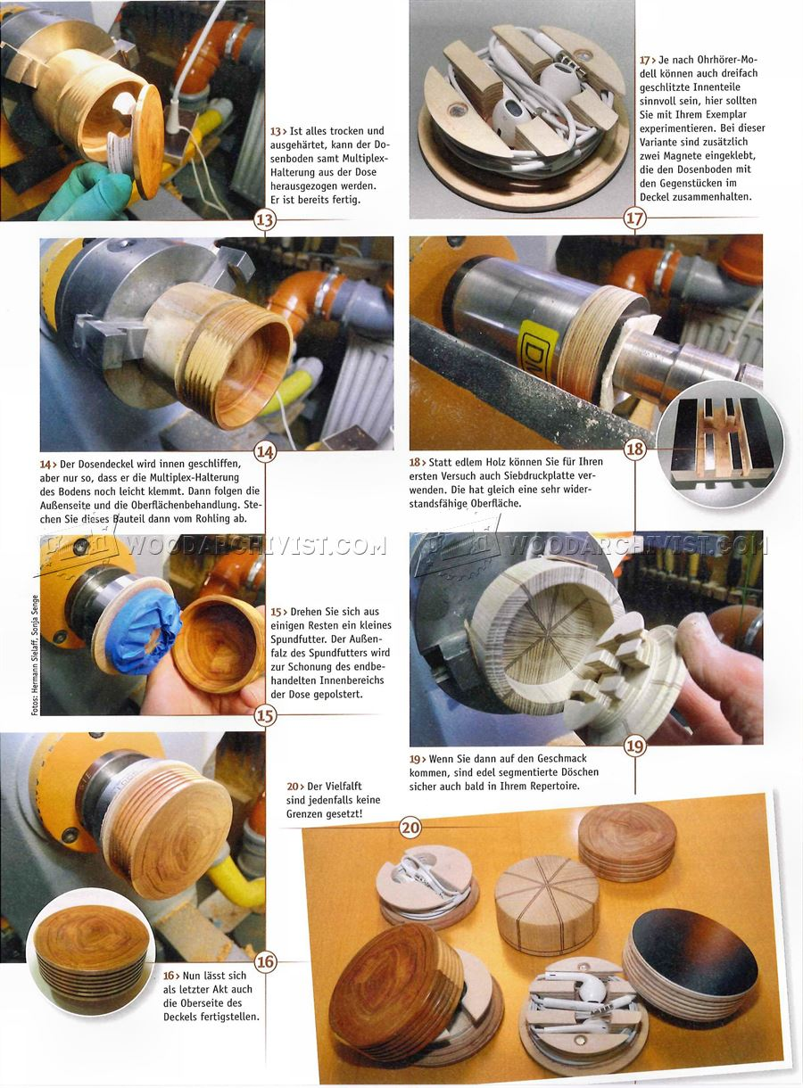 Woodturning Projects - Earphone Organizer