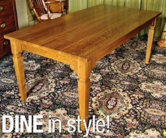931-Dining Table Plans