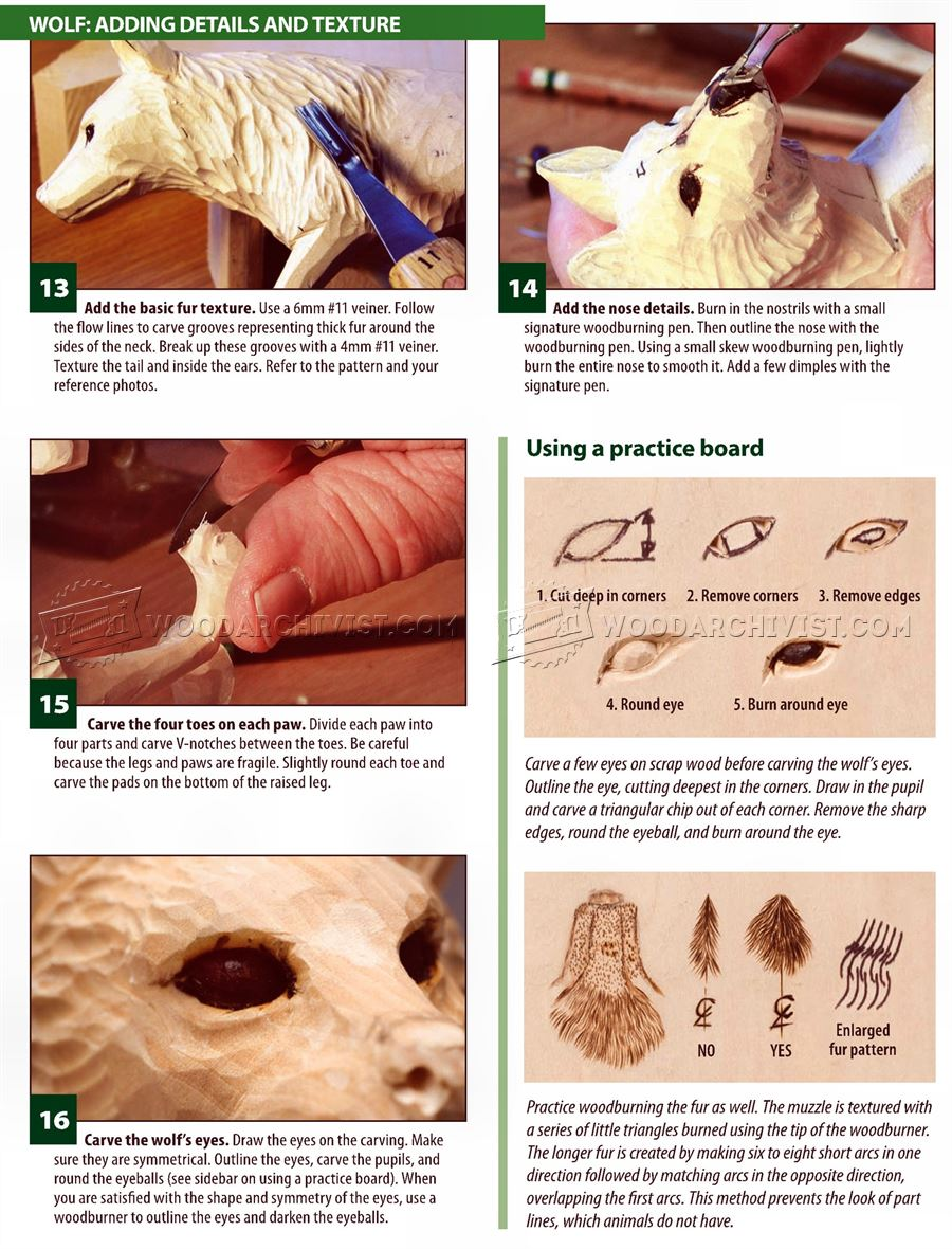 Wolf Carving - Wood Carving Patterns
