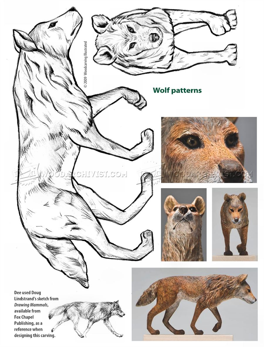 Wolf Carving Wood Patterns WoodArchivist