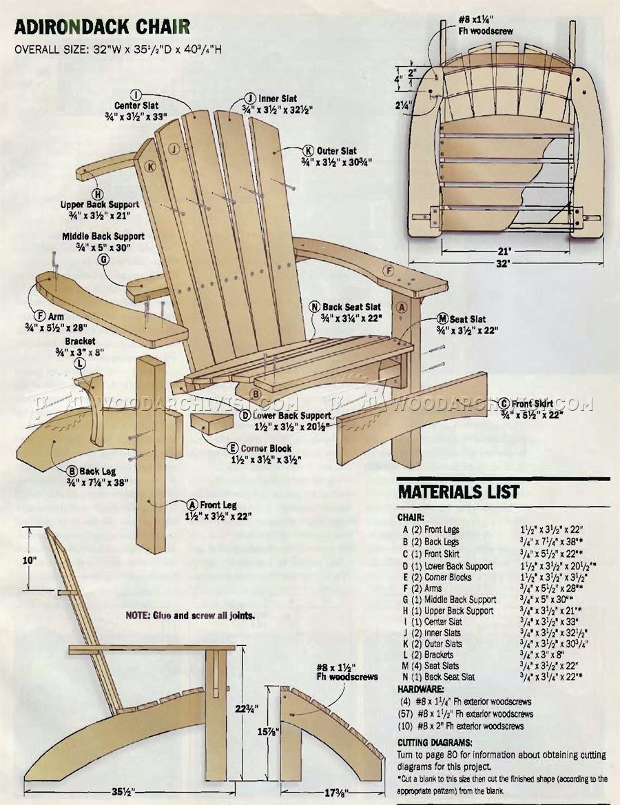 woodworking plans adirondack chair