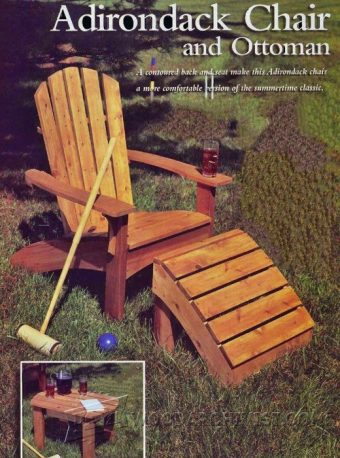 944-Adirondack Chair and Ottoman Plans