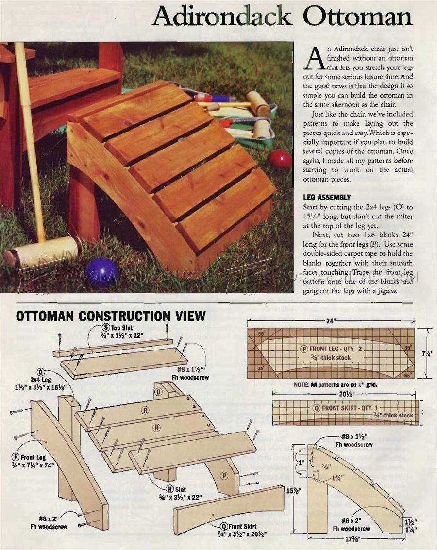 adirondack chair and ottoman plans home design On adirondack ottoman plans