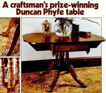947-Duncan Phyfe Table Plans