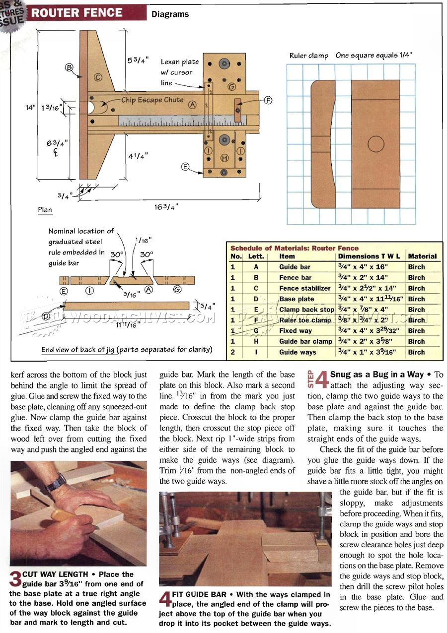 Precision Router Table Fence Plans