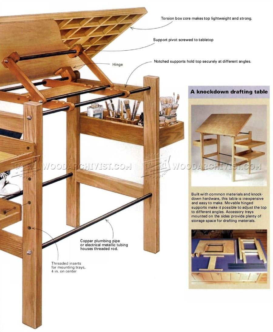 Knockdown Drafting Table Plans