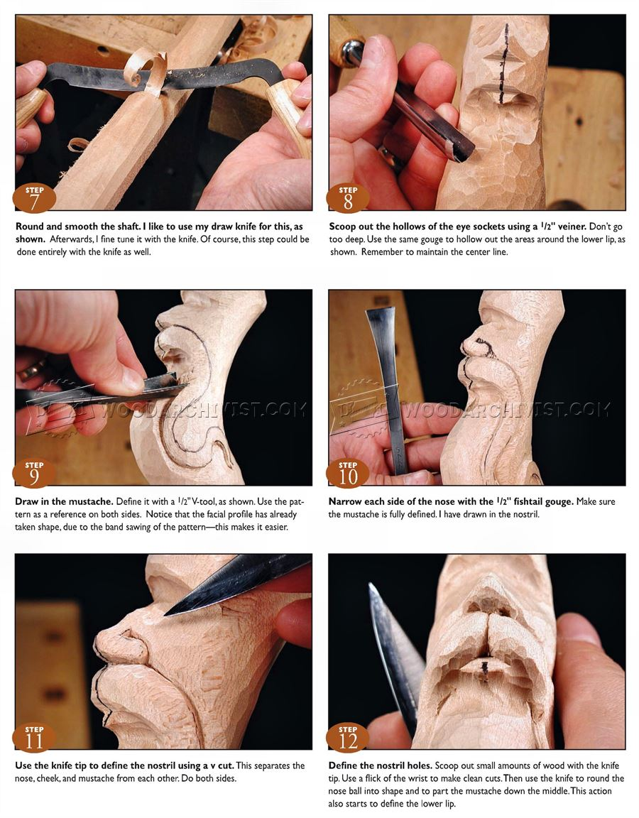 Carving Wizard Staff - Wood Carving Patterns