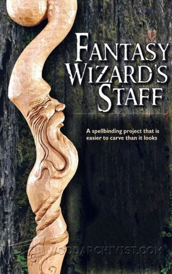 957-Carving Wizard Staff - Wood Carving Patterns