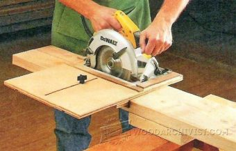963-DIY Circular Saw Edge Guide