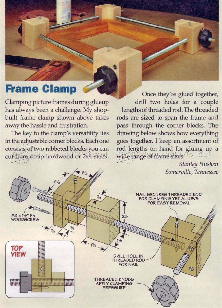 Diy Frame Clamp Woodarchivist