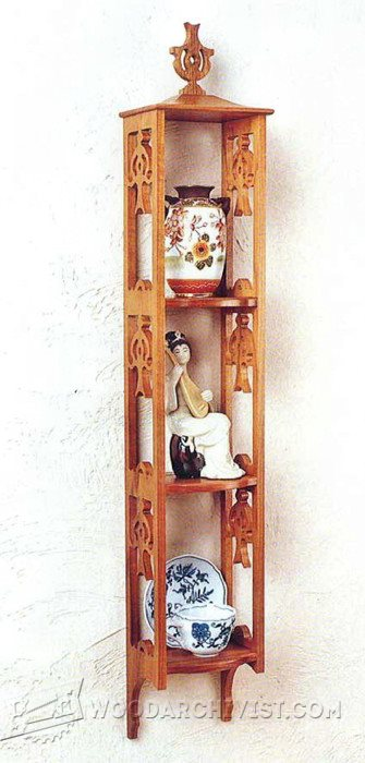 973-Three-Shelf Showcase Plans