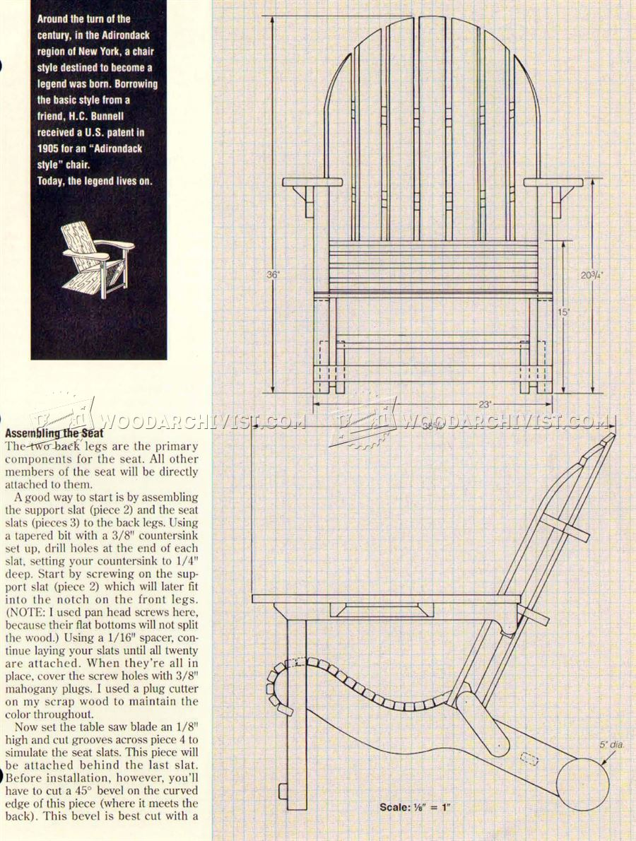 Folding Adirondack Chair Plans Woodarchivist