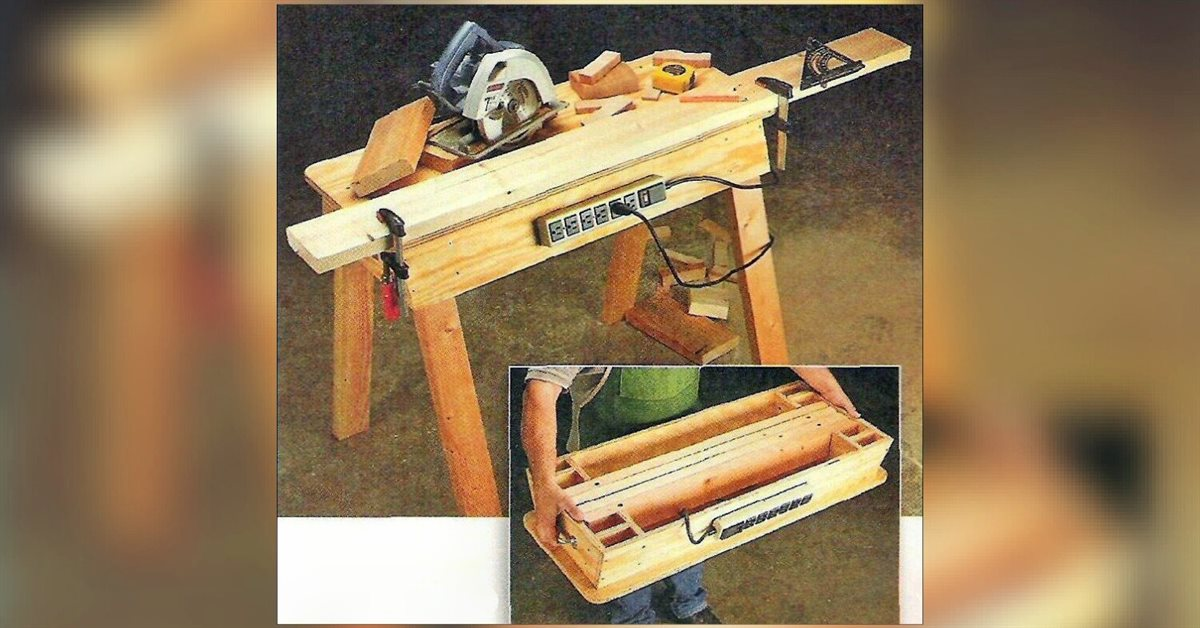 Portable Workbench Plans Woodarchivist