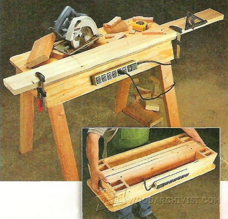 Elegant woodworking portable workbench egorlin