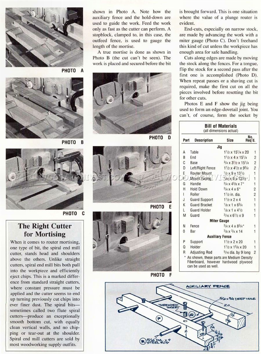 #997 Mortise and Tenon Jig Plans