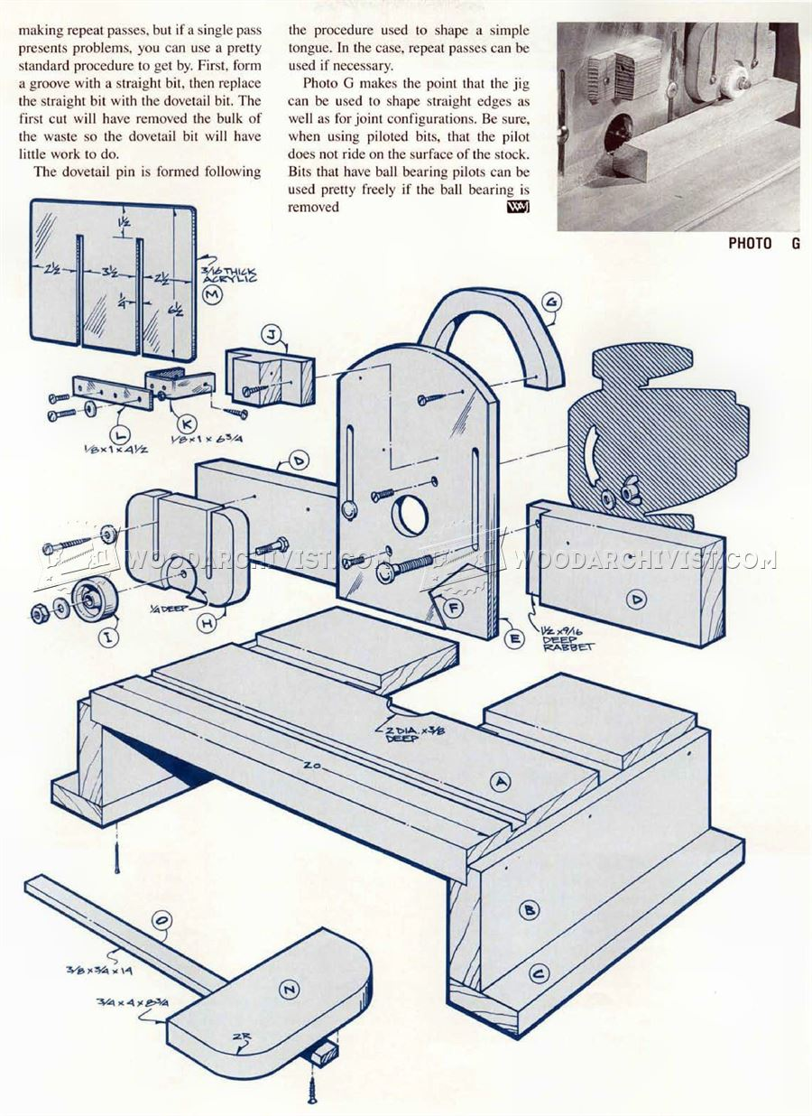 Mortise and Tenon Jig Plans