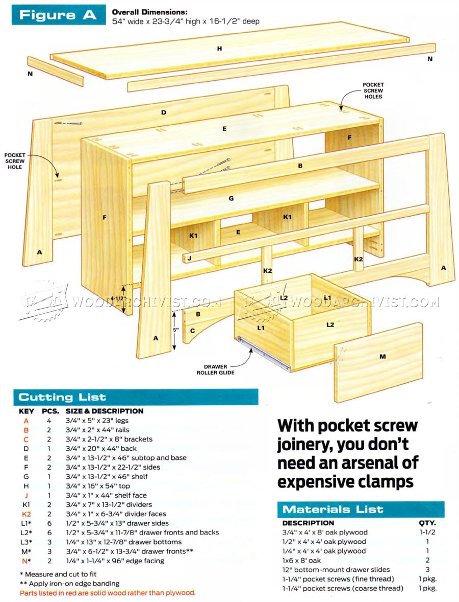 Just-Right TV Stand Plans
