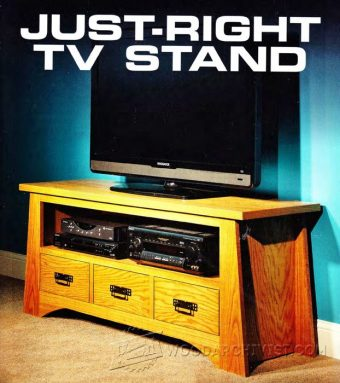 1101-Just-Right TV Stand Plans