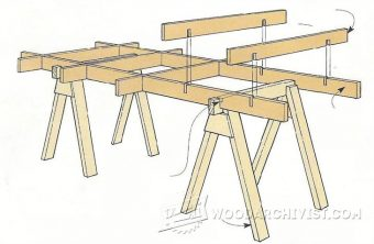 1103-Knock-Down Sawhorse Cutting Grid
