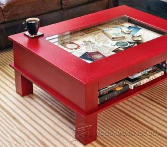 1104-Display Coffee Table Plans