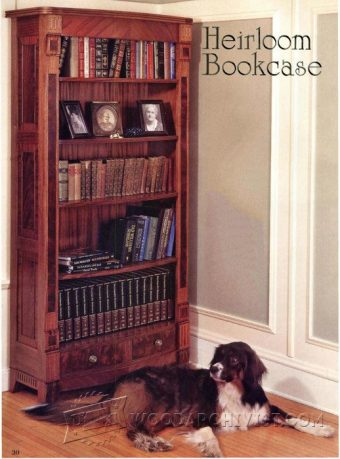 1105-Heirloom Bookcase Plans