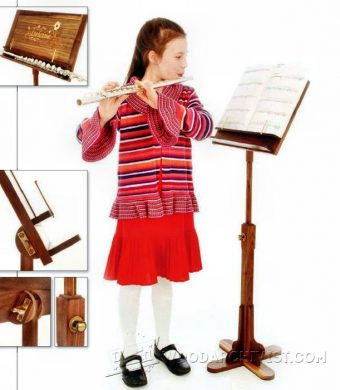 1121-Wooden Music Stand Plans