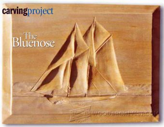 1125-The Bluenose - Intaglio Wood Carving