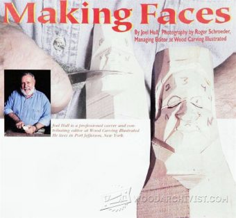 1133-Carving Faces - Wood Carving Patterns