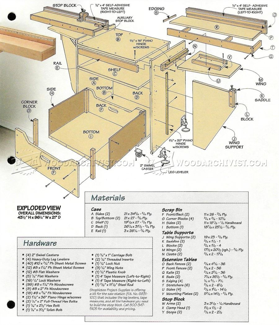Miter Saw Station Plans • WoodArchivist