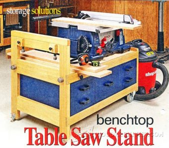 1138-Benchtop Table Saw Stand Plans