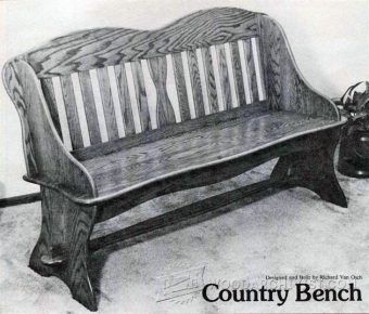1143-Country Bench Plans