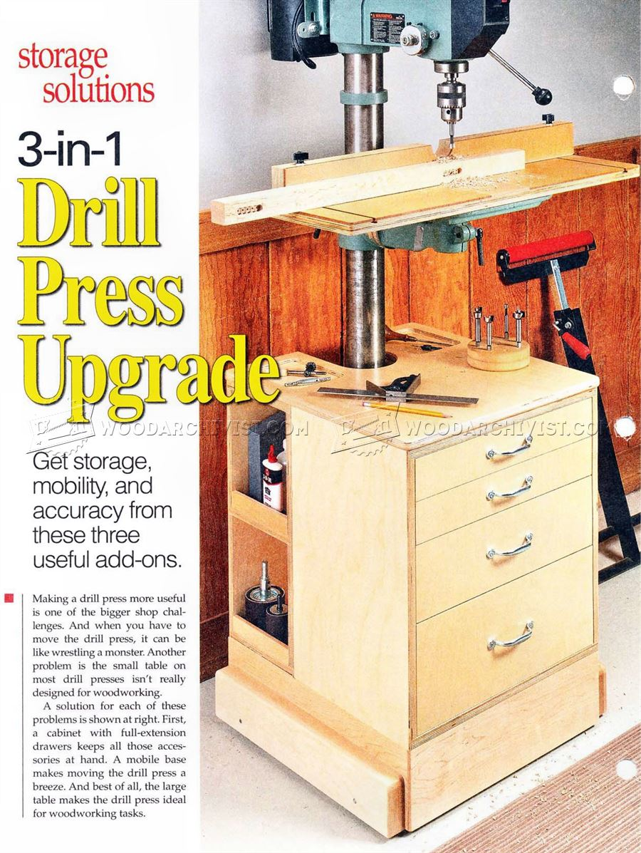 #1147 Drill Press Mobile Base Plans